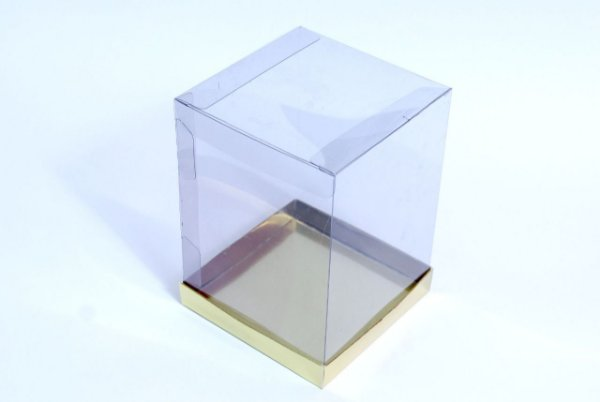 Caixa para Panetone 500g Dourada 17 cm com 5 un. Eluhe Rizzo Confeitaria