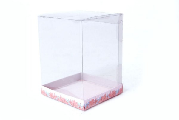 Caixa para Panetone 500g Floral Rosê 17 cm com 5 un. Eluhe Rizzo Confeitaria