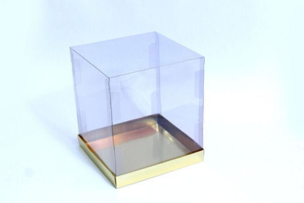 Caixa para Panetone 250g Ouro 12 cm com 5 un. Eluhe Rizzo Confeitaria