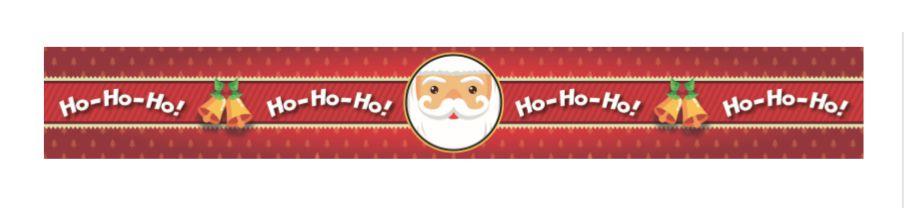 Cinta Panetone G Noel Ho Ho Ho com 3 un. Erika Melkot Rizzo Confeitaria