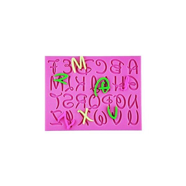 Molde de Silicone Alfabeto S386 Molds Planet Rizzo Confeitaria