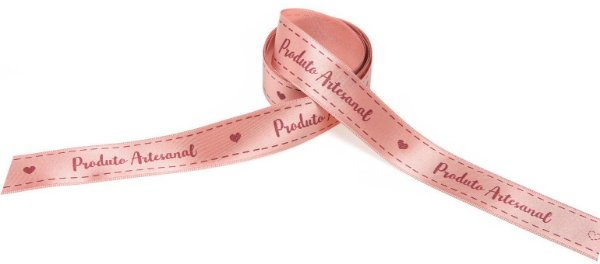 Fita de Cetim Produto Artesanal Rosa Nude ECF005D 240 Progresso Rizzo Confeitaria