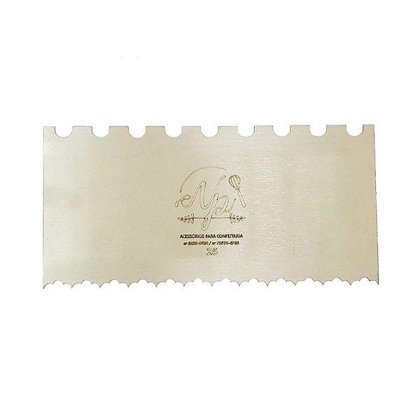 Espátula Decorativa para Bolo em Inox Mod. 25 NP Rizzo Confeitaria