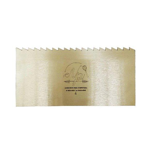 Espátula Decorativa para Bolo em Inox Mod. 4 NP Rizzo Confeitaria