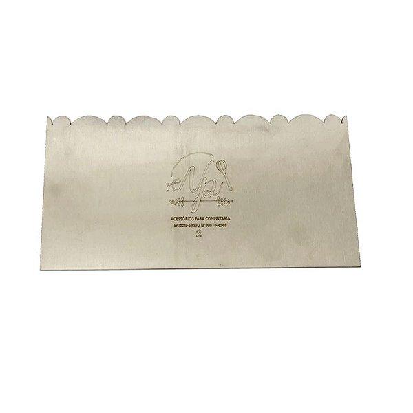 Espátula Decorativa para Bolo em Inox Mod. 2 NP Rizzo Confeitaria