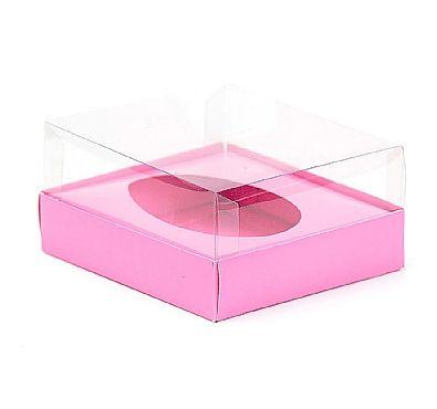 Caixa Ovo de Colher - Meio Ovo de 500g - Rosa - 20,5 x 17 x 6,5 cm - 5 un - Assk Rizzo Confeitaria