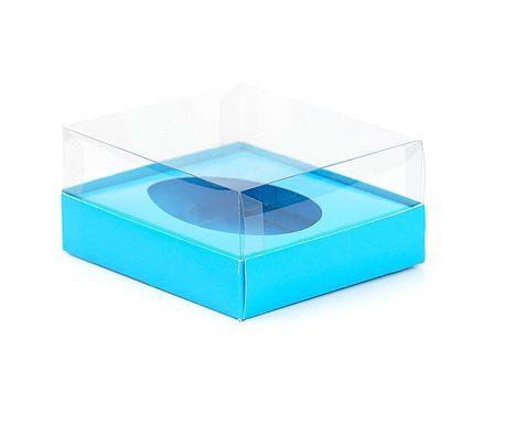 Caixa Ovo de Colher - Meio Ovo de 500g - Azul - 20,5 x 17 x 6,5 cm - 5 un - Assk Rizzo Confeitaria