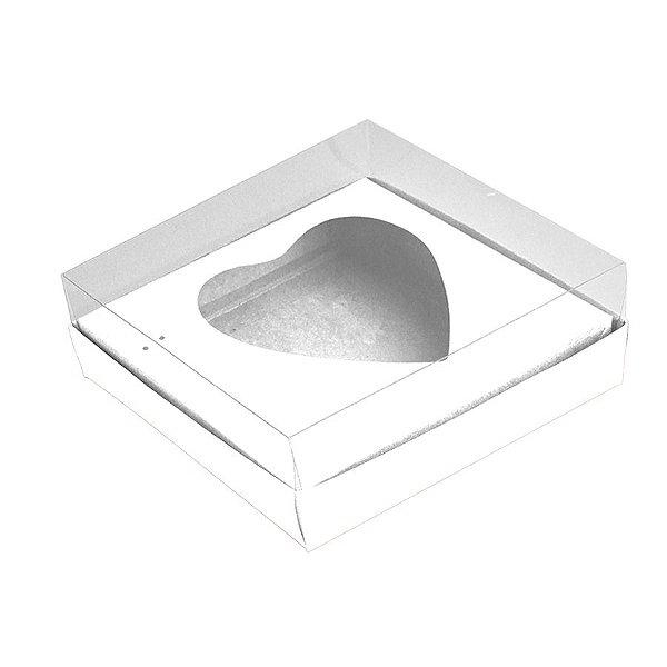 Caixa Coração de Colher - Meio Coração de 500g - Branco - 20,5 x 17 x 6,5 cm - 5 un - Assk Rizzo Confeitaria
