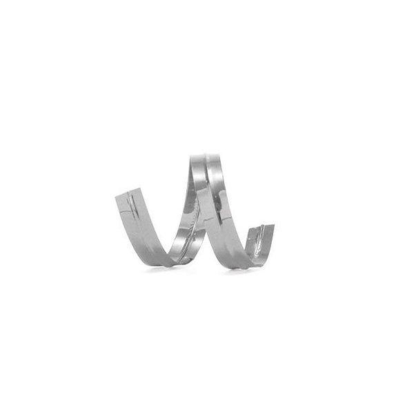 Fecho Prático Prata 11 cm com 100 un Cromus Rizzo Confeitaria