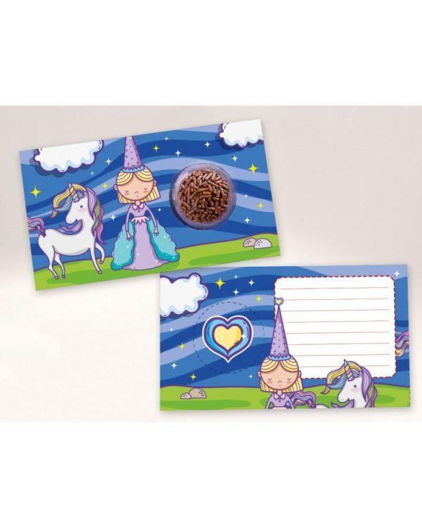 Cartão Blister Princesa Ref. 548 com 10 un. Erika Melkot Rizzo Confeitaria