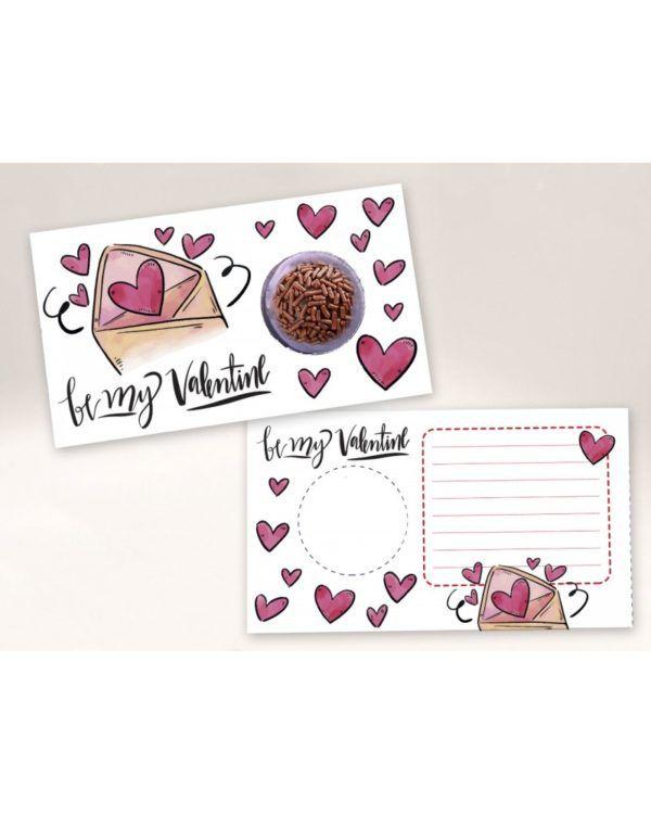 Cartão Blister Amor / Valentine  Ref. 556 com 10 un. Erika Melkot Rizzo Confeitaria