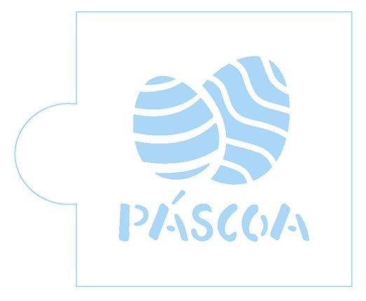 Stencil Ovos Páscoa SC2-041 Litoarte Rizzo Confeitaria