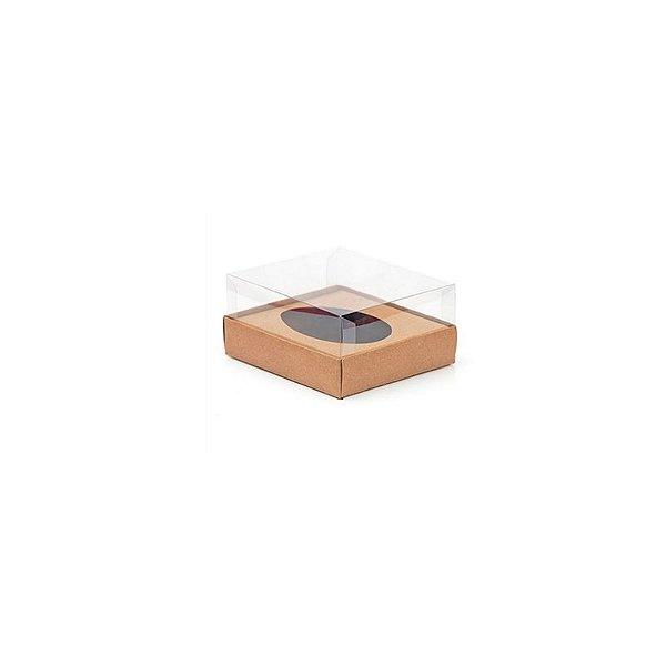 Caixa Ovo de Colher - Meio Ovo 50g - Kraft - 10 x 10 x 4 cm - 5 un - Assk Rizzo Confeitaria