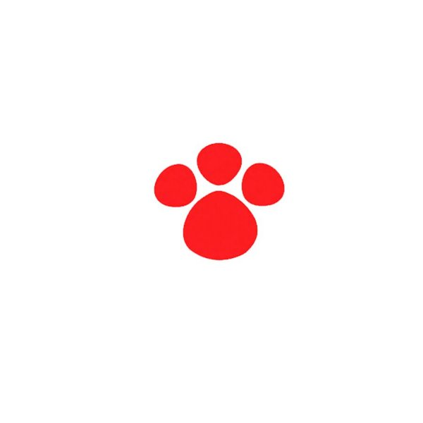 Adesivo Patinha Vermelha P 5cm x 5cm - 50 Unidades - Decora Doces Rizzo Confeitaria