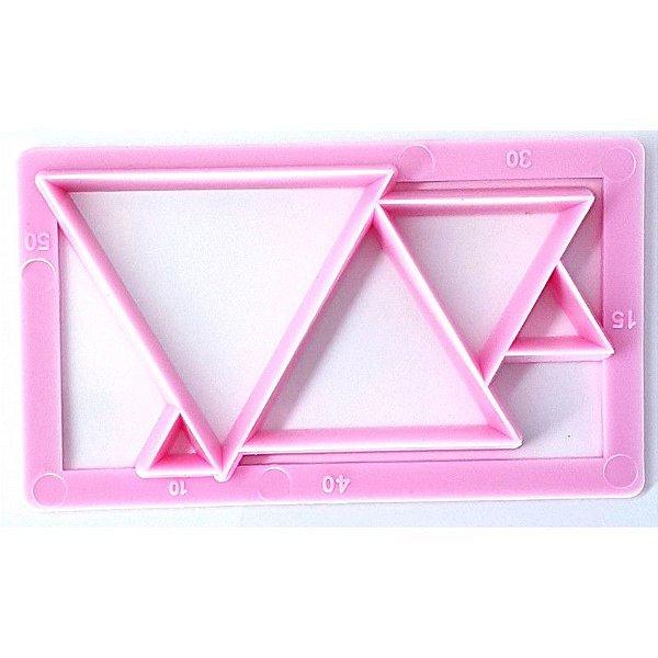 Cortador Geométrico Triangulo Prime Chef Rizzo Confeitaria
