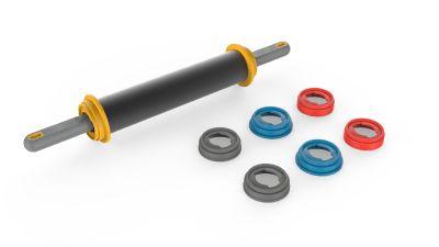 Rolo de Massa Profissional com Regulador de Altura Antiaderente 40 cm  Anodilar Rizzo Confeitaria