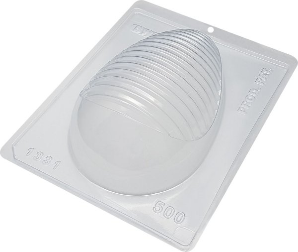 Forma de Acetato Ovo 500g Detalhe Arredondado Cód. 1331 BWB Rizzo Confeitaria