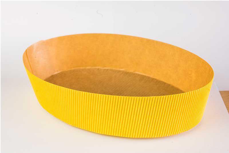 Forma Colomba Oval Forneável 500g Amarela com 10 un. Ecopack Rizzo Confeitaria