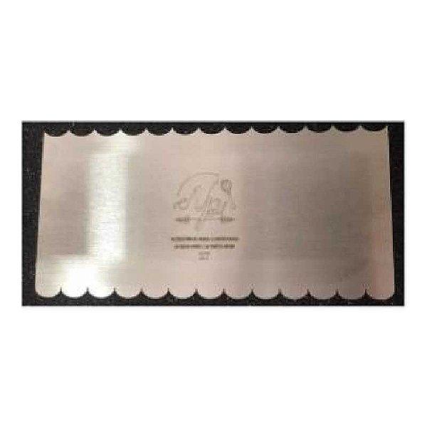 Espátula Decorativa para Bolo em Inox Mod. 27 NP Rizzo Confeitaria