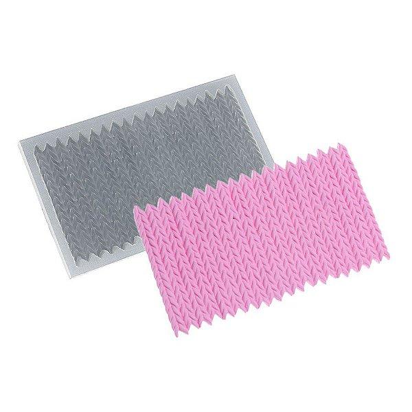 Molde de Silicone Crochê Zig-Zag Ref. 355 Flexarte Rizzo Confeitaria