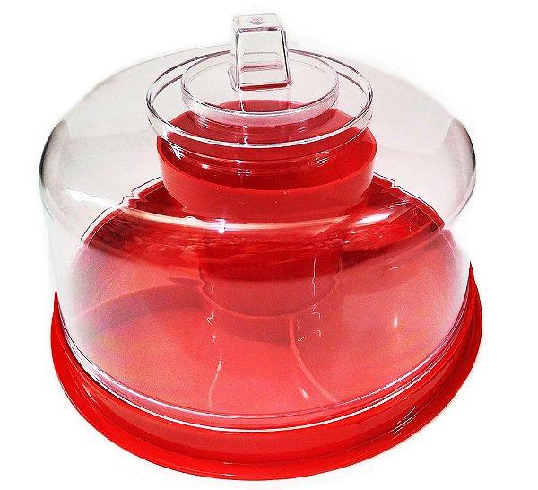 Boleira Multifunções 4 em 1 Vermelha - Produfest - Rizzo Confeitaria