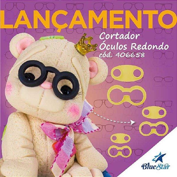 Kit Cortador de Óculos Redondo com 6 peças Blue Star Rizzo Confeitaria