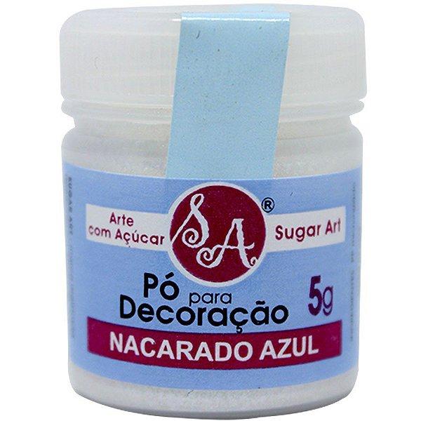 Pó para Decoração Nacarado Azul 5g Sugar Art Rizzo Confeitaria