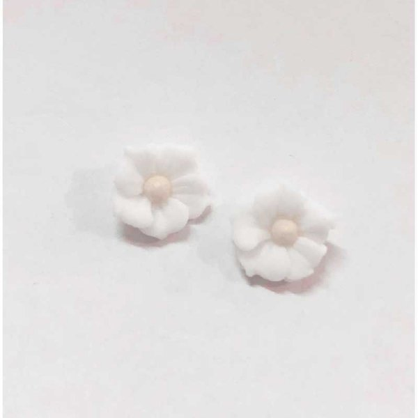Confeitos Comestíveis Flor Misiotes Branca - Flores e Encantos de Açúcar Rizzo Confeitaria