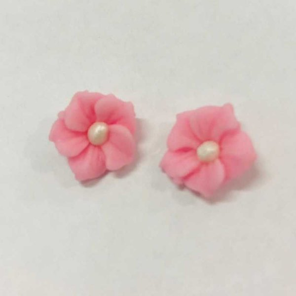 Confeitos Comestíveis Flor Misiotes Rosa - Flores e Encantos de Açúcar Rizzo Confeitaria
