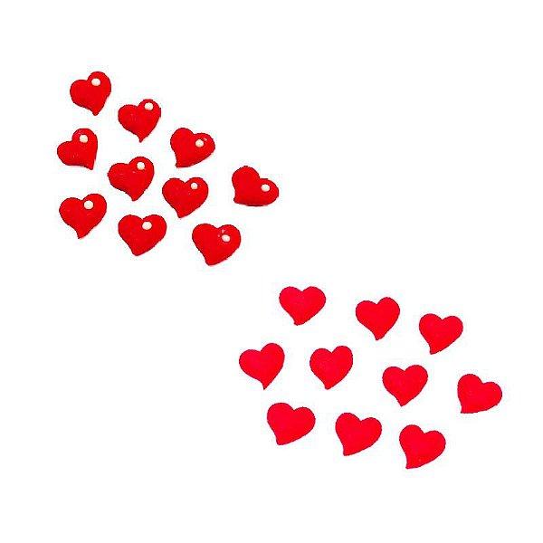 Confeitos Comestíveis Coração P - Flores e Encantos de Açúcar Rizzo Confeitaria