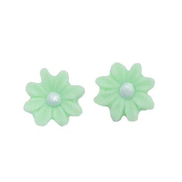 Confeitos Comestíveis Flor Margarida Verde - Flores e Encantos de Açúcar Rizzo Confeitaria