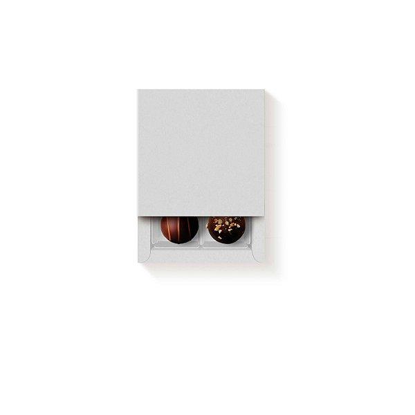 Caixa Luva Quadrada 4 doces Branca com 5 un. Cromus Rizzo Confeitaria