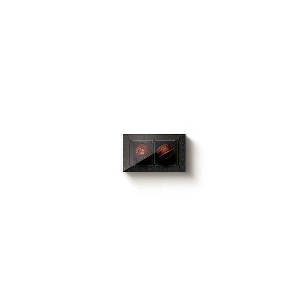 Caixa Retangular com Tampa Cristal 2 doces Preta com 10 un. Cromus Rizzo Confeitaria