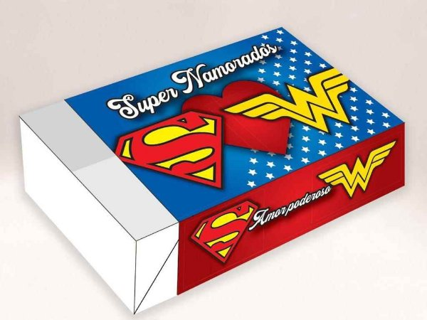 Caixa Divertida Super Namorados Ref. 516 - 6 doces com 10 un. Erika Melkot Rizzo Confeitaria