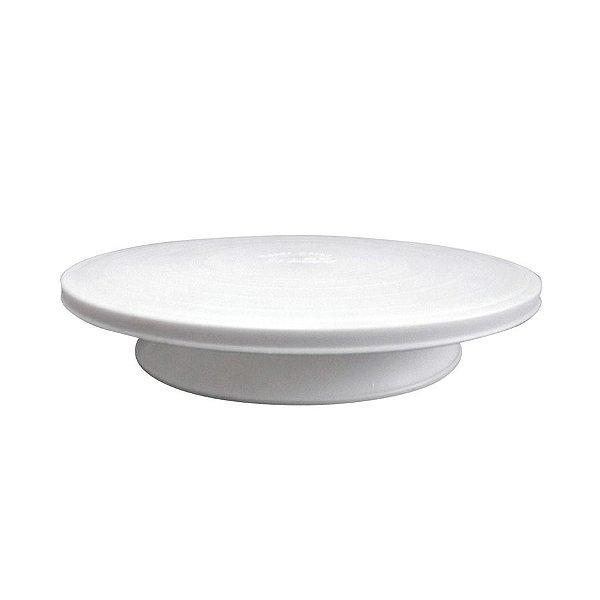 Bailarina - Prato Giratório Branco 30 cm Solrac Rizzo Confeitaria