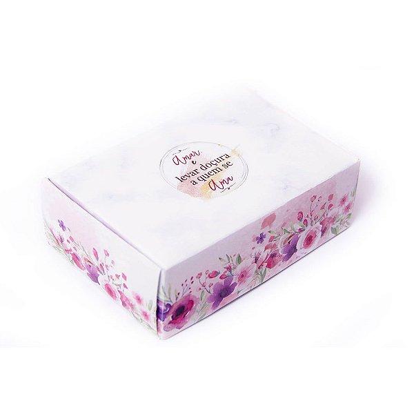 Caixa para 6 doces Amar e Levar ... com 10 un. Eluhe Rizzo Confeitaria