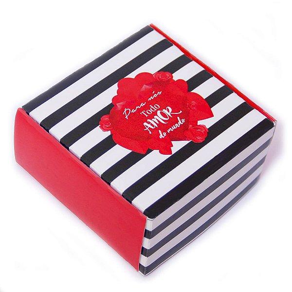 Caixa para 4 doces Para nós Todo Amor ... com 10 un. Eluhe Rizzo Confeitaria