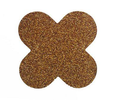 Forminha 4 Pétalas Glitter Dourado Cod. 10.82 com 50 un. Nc Toys Rizzo Confeitaria