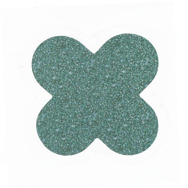 Forminha 4 Pétalas Glitter Verde Cod. 10.89 com 50 un. Nc Toys Rizzo Confeitaria