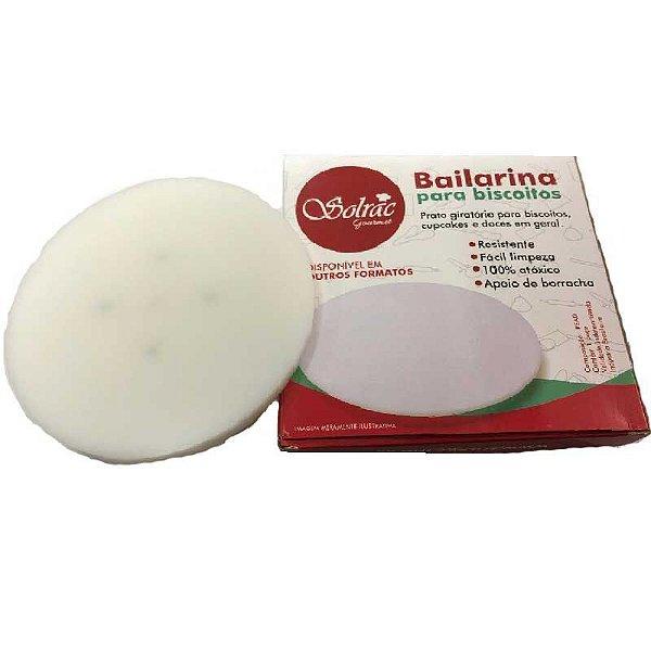 Bailarina - Prato Giratório para Biscoito Redonda Branca 14 cm Solrac Rizzo Confeitaria
