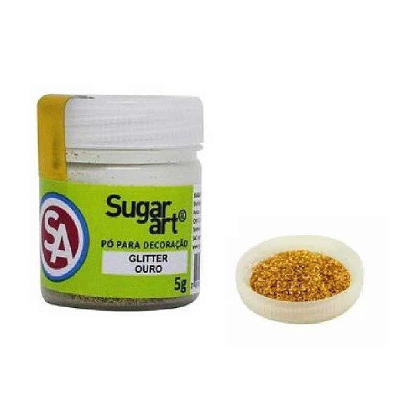 Pó para Decoração, Gliter Ouro 5g Sugar Art Rizzo Confeitaria