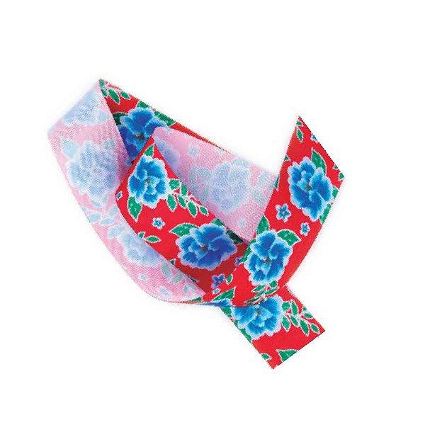 Fita de Cetim Flores Vermelha  EGP009TR 125 Progresso Rizzo Confeitaria