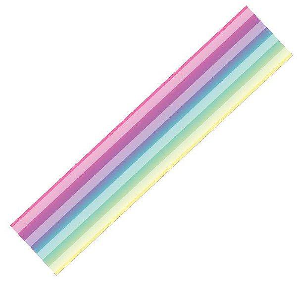Fita Voal Degrade Arco Iris ZSKY009 003 Progresso Rizzo Confeitaria
