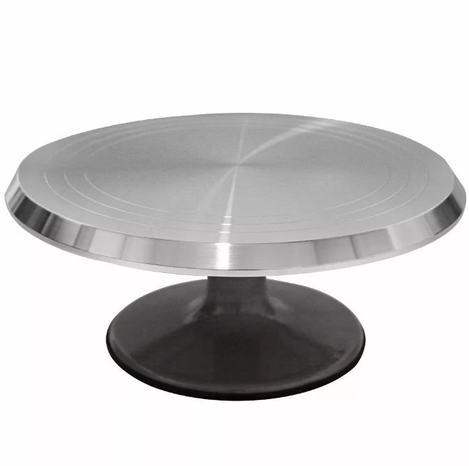 Bailarina - Prato Giratório de Alumínio 30 cm Ferimte Rizzo Confeitaria
