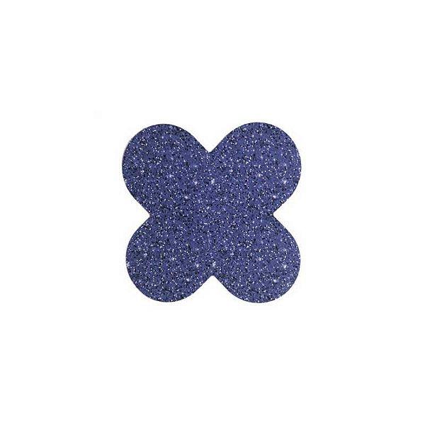 Forminha 4 Pétalas Glitter Azul Cod. 10.88 com 50 un. Nc Toys