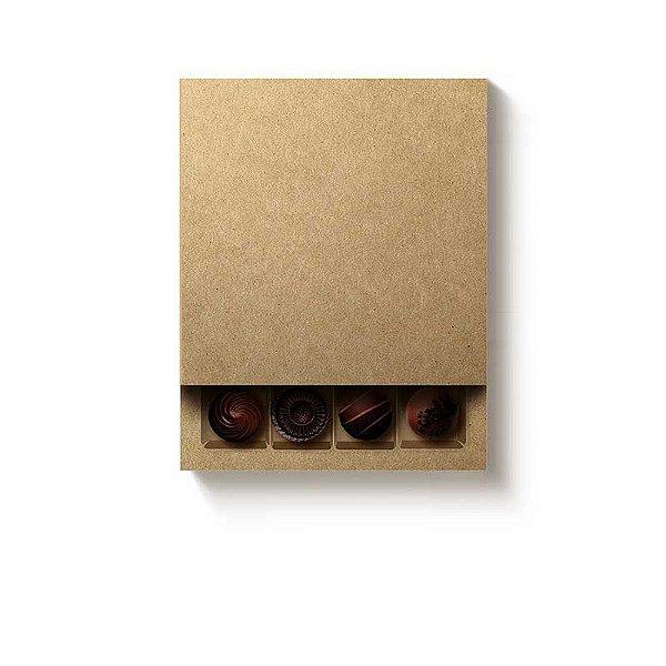 Caixa Luva Quadrada 16 doces Kraft com 1 un. Cromus Rizzo Confeitaria