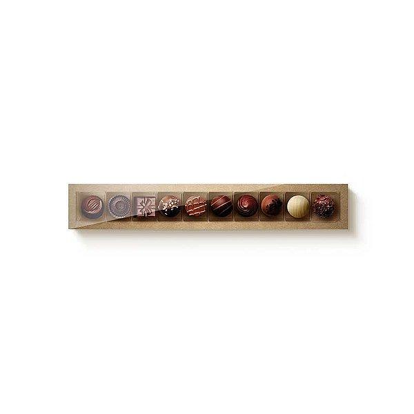 Caixa Retangular com Tampa Cristal 10 doces Kratf com 1 un. Cromus Rizzo Confeitaria