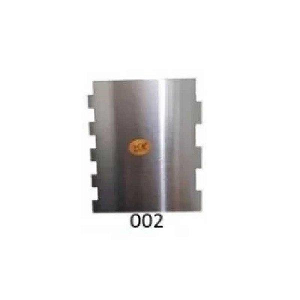 Espátula Decorativa para Bolo em Inox Mod. 002 VM Rizzo Confeitaria