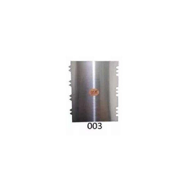 Espátula Decorativa para Bolo em Inox Mod. 003 VM Rizzo Confeitaria