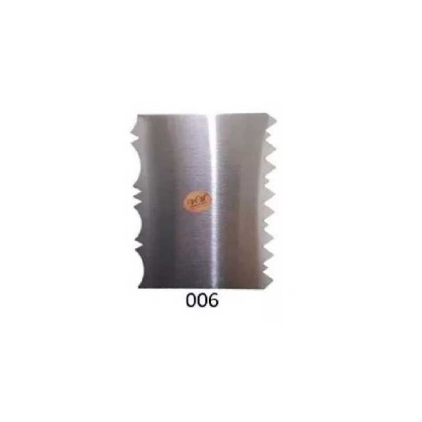 Espátula Decorativa para Bolo em Inox Mod. 006 VM Rizzo Confeitaria